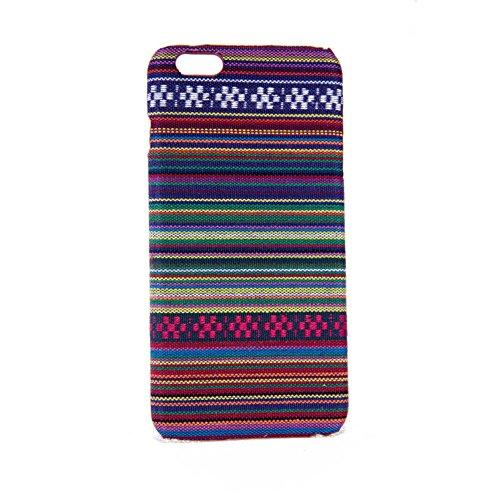 König-Shop Handyhülle aus Stoff-Case für Apple iPhone 6 / 6s Plus Cover Etui Bumper Violett