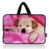 AUPET Pink Dog Universal 7 ~ 8 inch Tablet Portable Neoprene Zipper Carrying Sleeve Case Bag