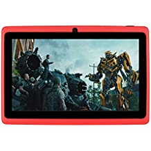 7 inches Tablet PC HD visualización Táctil Mic WiFi Android 4.4 Octa Core Quad Core Tablet PC 8 GB de doble cámara WiFi, apoyo Juegos, Skype, MSN, Facebook, Twitter, etc, Rojo, 500