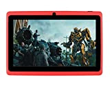 7Inches Tablet PC HD Touchscreen Mic WIFI Android 4.4 Octa Core Quad Core Tablet PC 8GB Dual Camera Wifi ,Support Games, Skype ,MSN ,Facebook, Twitter, etc (Red)