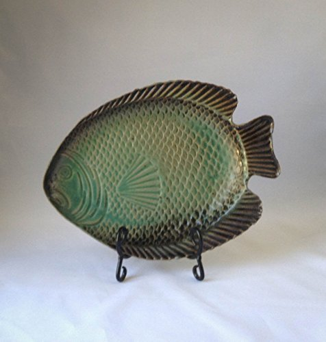 Green Fish Platter - Platter Blue and Green Fish Design