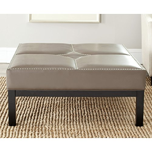 Safavieh Mercer Collection Terrence Cocktail Ottoman, Clay