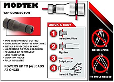 Modtek Low Voltage High Performance Piercing Connectors for Landscape Lights, Cable Connector for14-16 Gauge Wire & Works with All Outdoor Lighting Brands
