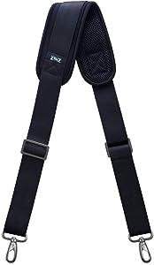"Shoulder Strap, ZINZ 57"" Padded Adjustable Shoulder Bag Straps Replacement for Bags with D-ring (Black, ZINZ 001)"