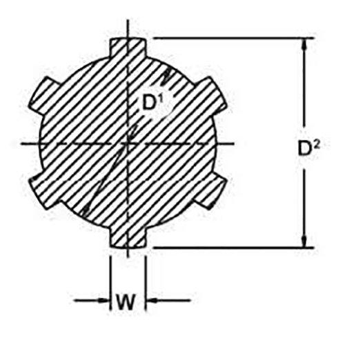 Groove Diameter D2 KS13X3000 Ametric/® Metric Spline Shafting Width of Spline D1 Mfg Code 1-090 W Outside Diameter 1.29 kg//m DIN 5463 13 mm 3.5 mm KN 13x16 Profile x 3m C45 Steel 6 Splines 16 mm