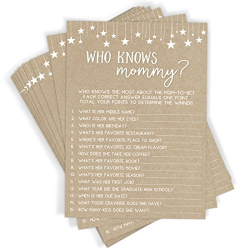 Who Knows Mommy Shower Game | Set of