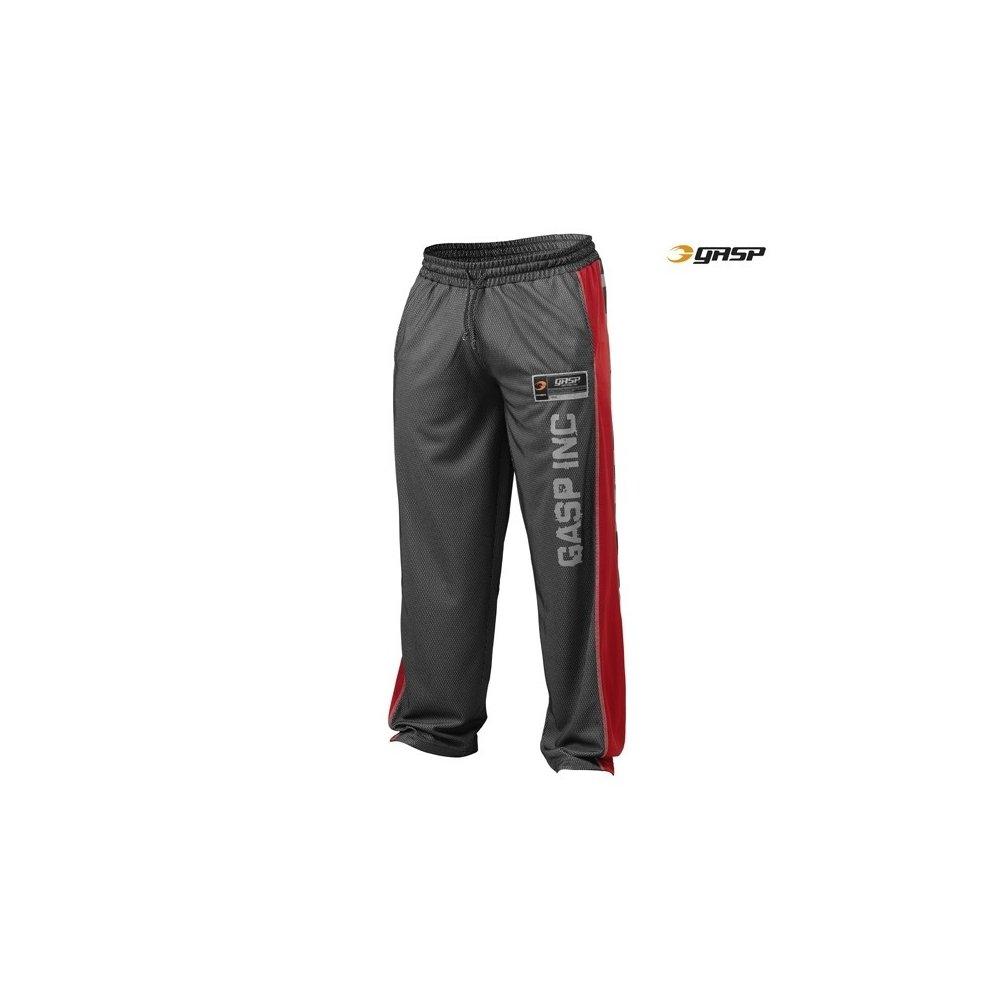 GASP No1 Mesh Pant 100% Polyester (220593), schwarz ROT, XXL
