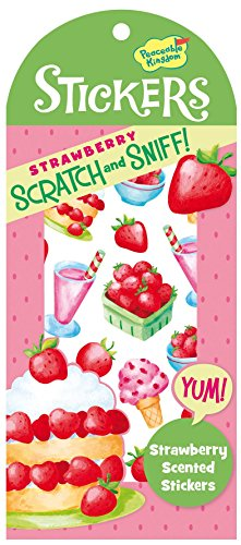 Valentine Stickers Party Favors (Peaceable Kingdom Scratch and Sniff Strawberry Scented Sticker)