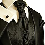Paul Malone Wedding Vest Set Black Paisley
