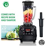 GoWISE USA 1450W High-Speed 2 Horse Power Professional Blender with 4 Blending Presets, 67-Ounce Pitcher and Tamper + 20 Recipes for your Blender Recipe Book, Premiere, GW22502