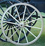 Decorative - Wood Wagon Wheel - 36 Inch x 2 Inch Steam Bent Hickory Wagon Wheel with wooden hub