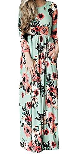 Buy maxi dress 3/4 length sleeves - 1
