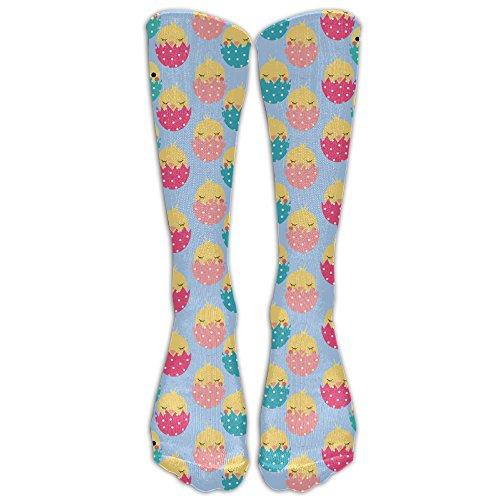 Unisex Colorful Chick Easter Eggs Athletic Socks Stockings Tube (Alien Easter Egg)