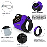 100 Feet Dog Leash - Heavy Duty Retractable Dog Leash with 16 Feet Nylon Ribbon Extends for Small, Medium and Large Dogs up to 110lbs