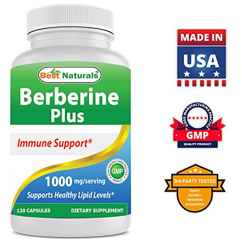 Best Naturals Berberine Plus 1000mgServing Supports Healthy Glucose Metabolism NonGMO 120 Capsules