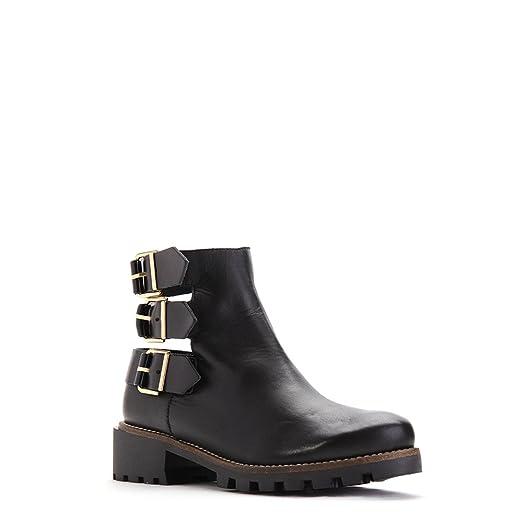 Women's Shoes Leather Ankle boots Cecilia Black SZ 36