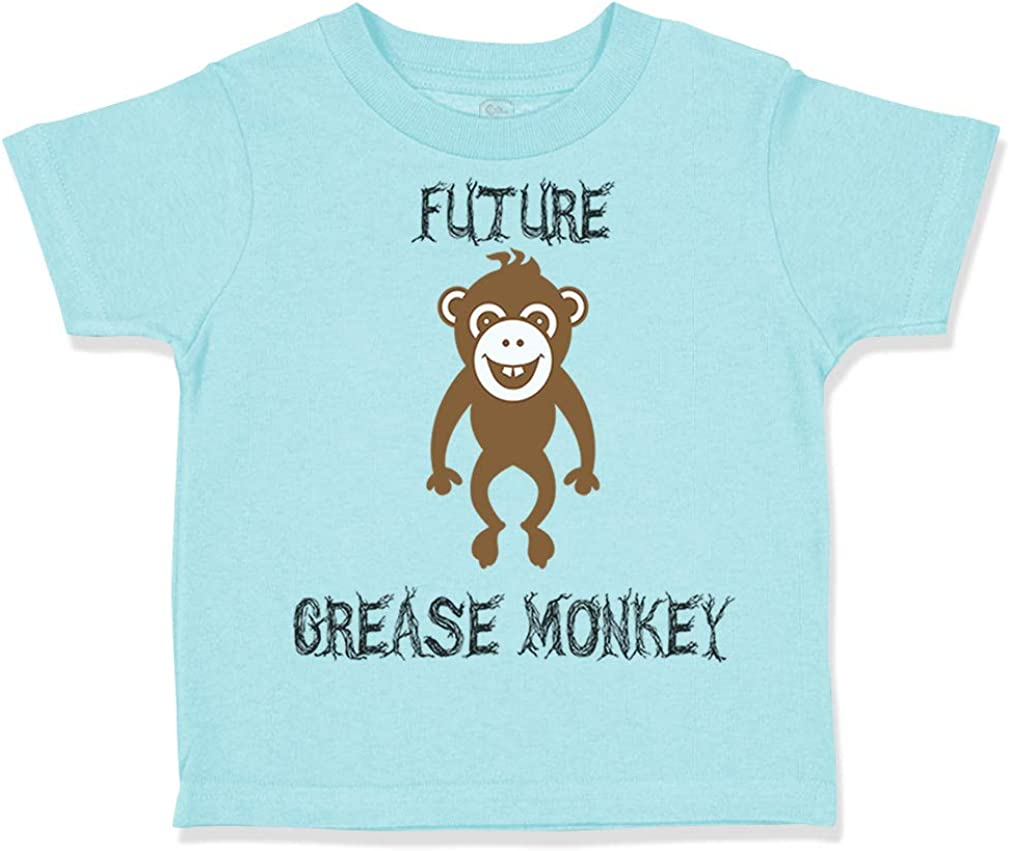Custom Toddler T-Shirt Future Grease Monkey Car Racing Funny Humor Cotton
