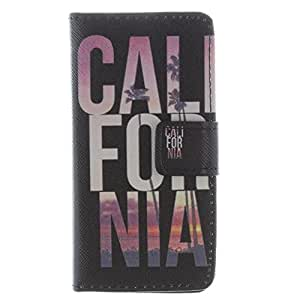 Yakamoz PU Leather California Flip Wallet Card Slots Stand Case Cover for iPhone 5 5S with Free Screen Protector & Stylus Pen