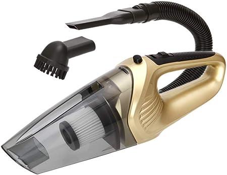 BABAWD Aspiradora para Coche 12V 120W Coche sin Cable Hoover Mucho más Fuerte succión de la aspiradora Auto de Mano Potable, Cepillo de Limpieza,Gold: Amazon.es: Hogar