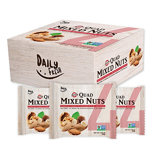Daily Fresh Quad Mixed Nuts, 24 Count by Daily Fresh
