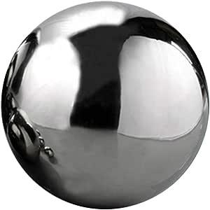 1 bola de acero inoxidable hueca sin costuras con espejo, bola ...