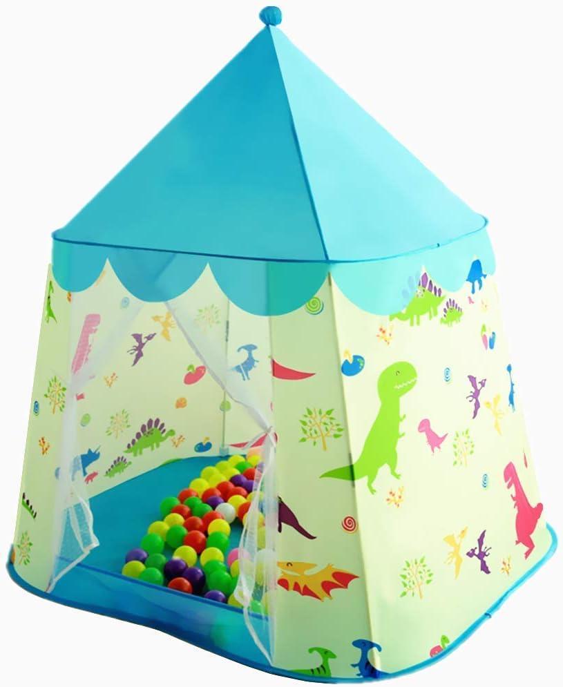 Floving Tenda da Gioco per Bambini al Coperto da casa del Castello di Principessa del Dinosauro della Tenda per Bambini Blue