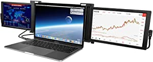Portable Screen,Portable Monitor for Laptop, Dual or Three Screen 13.3''1080P IPS USB-A/Type-C/HDMI Monitor Extender, Compatible with 14.5''-16''Laptop, Splint is Retractable, Stretch Bracket Behind