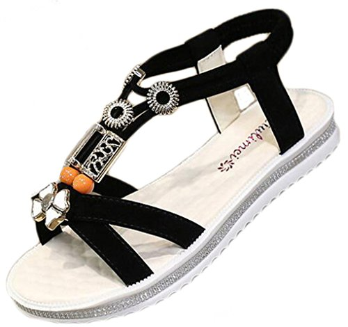 NEWZCERS - Sandalias de vestir para mujer negro