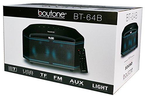 Boytone BT-64B, Wireless Bluetooth Premium HiFi Stereo, Home Theater Speaker 100w, Powerful Super Bass, Clear Sound, 6.5'' Subwoofer, 3''X4 Midrange/Tweeter, FM Radio, Disco light, USB/SD/MP3 by Boytone (Image #5)