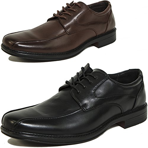 Alpine Swiss Men's Dress Shoes Leather Lined Lace up Oxfords Baseball Stitched