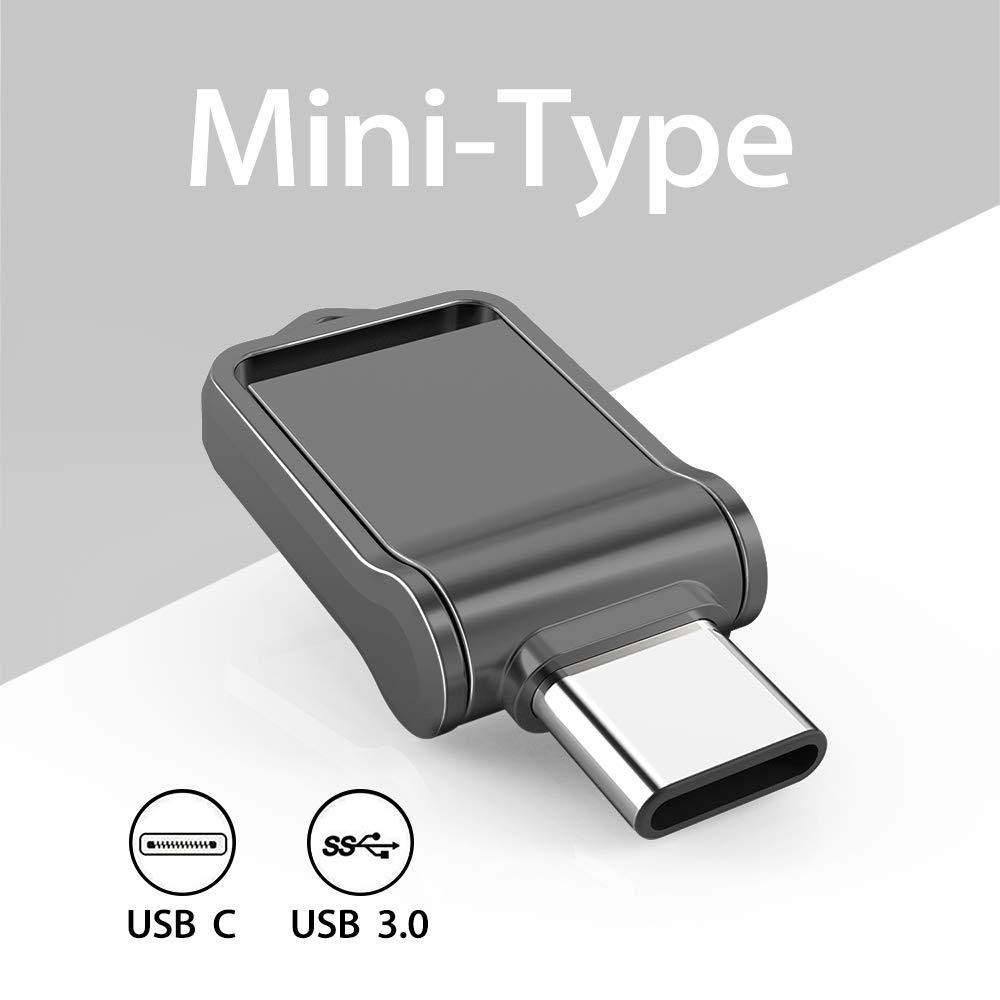 KEXIN 64GB Memoria USB Tipo C y 64GB Memoria USB 3.0 OTG 2 en 1 para Port/átil,Tel/éfono y Otras Dispositivos USB o Tipo C Resistente al Agua
