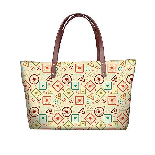 Foldable Bags Stylish Wallets FancyPrint Women W8ccc5098al Handle Top Purse Handbags Satchel Iw54dd1q