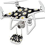 MightySkins Protective Vinyl Skin Decal for DJI Phantom 4 Quadcopter Drone wrap cover sticker skins Daisies