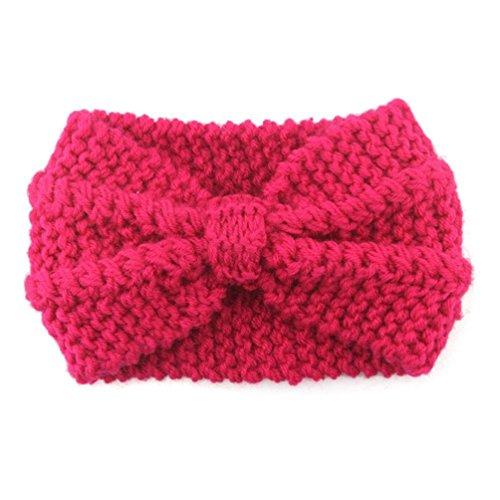 Hot Haarband wärmer Stirnband Haar Hunpta häkeln Pink Headwrap Band ...