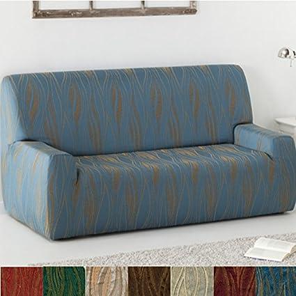 Funda de Sofá Elástica Modelo Carabela, Color Marrón, Medida 5 Plazas – 270-320cm