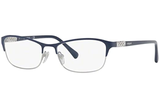 Vogue VO4057B Eyeglass Frames 5051-52 - Blue/Silver VO4057B-5051-52 ...