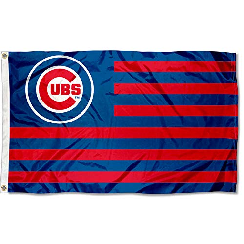 Chicago Cubs American Metal - WinCraft MLB Chicago Cubs Nation Flag 3x5 Banner