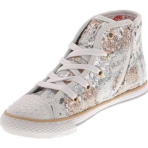 Primigi Girls 7315 High Top Fashion Sneakers,Argento,32