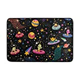 Chen Miranda Cute Aliens Pattern Door Mat Carpets Indoor Outdoor Area Rugs Office Door Mat Non-slip for Bedroom Bathroom Living Room Kitchen Home Decorative 23.6x15.7 inch Lightweight