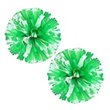VOBAGA 2 PCS Cheerleading Pom Poms Plastic More Colors Available