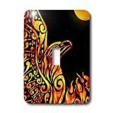 3dRose LLC lsp_23172_1 Phoenix Fantasy Fire Tribal, Single Toggle Switch