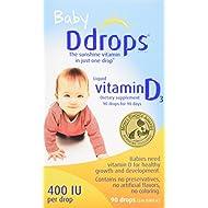 Ddrops Baby 400 IU, Vitamin D, 90 drops 2.5mL (0.08...