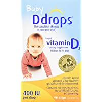 Ddrops Baby 400 IU, Vitamin D, 90 drops 2.5mL (0.08 fl.oz)