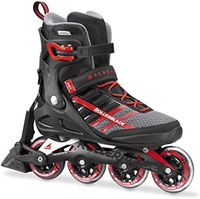 Rollerblade Macroblade 84 ABT Men s Adult Fitness Inline Skate, Black and Red, Performance Inline Skates