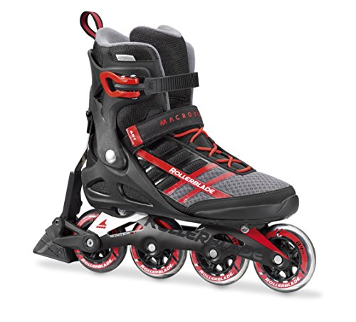 Rollerblade Macroblade 84 ABT New SG7 Bearings Aluminum Frame Inline Skates, Black/Red, US Men's 7.5 Sg7 Bearings