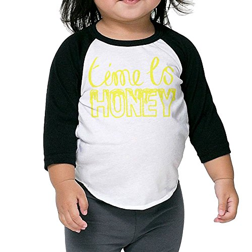 Toothbrush Adult Unisex Costumes (Time Is Honey Beekeeper Kid's Sleeve Raglan Clothes Unisex 5-6 Toddler Beautiful)