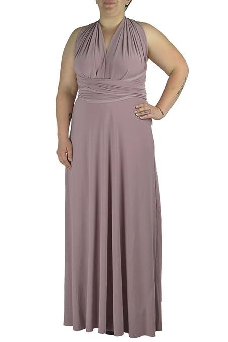 82273527227 Von Vonni Women s Transformer Infinity Dress Plus Size 2X Plus Dusty Mauve   Amazon.co.uk  Clothing