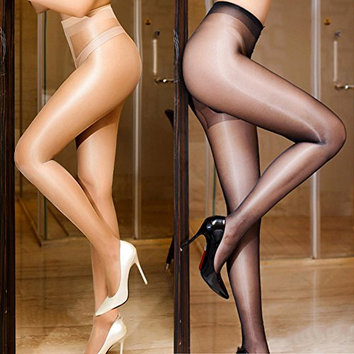 New oily Stockings,Shuohu Seamless Women T Crotch Stockings by Shuohu (Image #2)