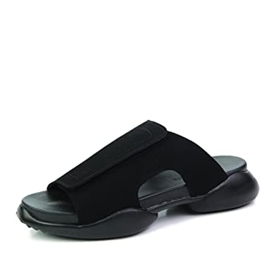 8e7b35fc5679 CIAC XFDK Summer flip-Flops Mens Fashion Sandals Thick-Soled Black Shoes