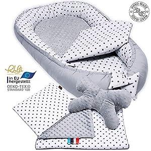 5 piece set. PALULLI Premium Cuddly Nest Set Including Baby Nest 90 x 50 cm Removable Insert Cuddle Blanket Neck Pillow…